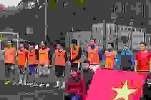 Tưng bừng giải bóng đá sinh viên Việt tại Hungary
