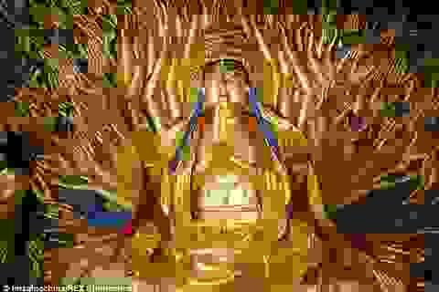 8 năm phục chế tượng Phật bà nghìn mắt nghìn tay 800 năm tuổi