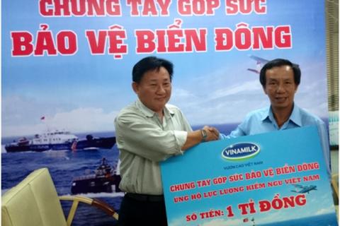 Vinamilk tiếp tục ủng hộ cán bộ chiến sĩ Kiểm ngư Việt Nam