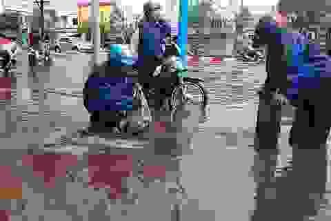 Đường phố Vũng Tàu ngập nặng sau cơn mưa lớn