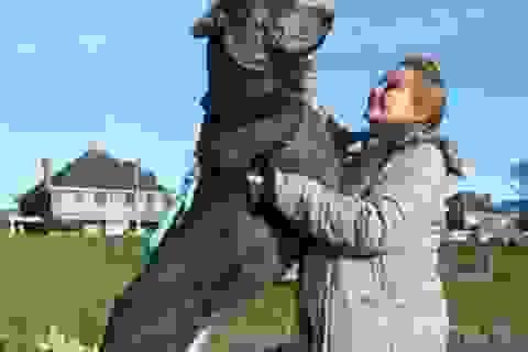 """""""Choáng"""" với chú chó có chiều cao 2,2 m"""