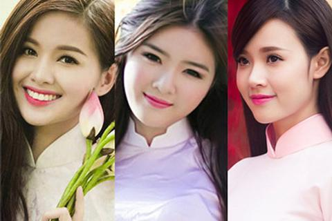 Hot girl Việt đọ sắc trong tà áo dài truyền thống