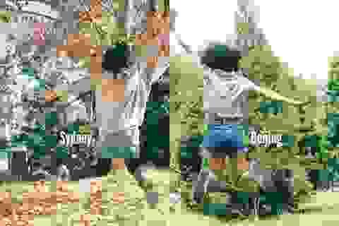 """Độc đáo bộ ảnh ghép """"hơi thở Bắc Kinh - Sydney"""" của đôi nữ sinh"""