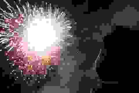 Hội An bắn pháo hoa trong đêm giao thừa ở đảo Cù Lao Chàm