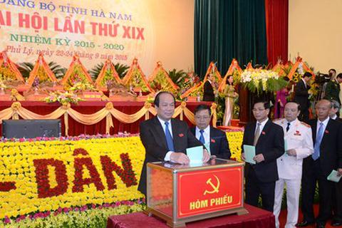 Ông Mai Tiến Dũng tái đắc cử Bí thư Tỉnh ủy Hà Nam