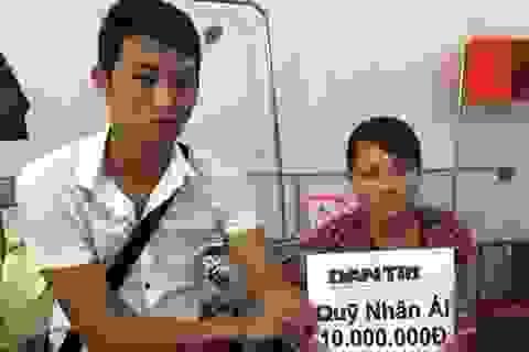 Quỹ Nhân ái hỗ trợ nóng 10 triệu đồng đến gia đình bị tai nạn giao thông