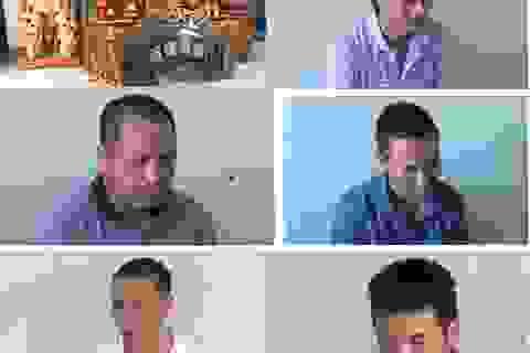 Bắt 6 đối tượng chuyên đi trộm cắp đồ thờ cúng ở đình chùa