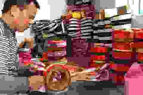 Nam Định: Làng nghề khăn xếp độc nhất miền Bắc vào vụ Tết