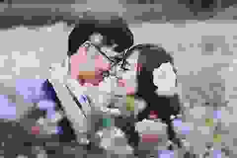 Ảnh cưới thơ mộng trên cánh đồng hoa tam giác mạch
