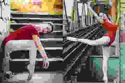 Thiếu nữ Hà thành bay bổng trong điệu múa trên cầu Long Biên
