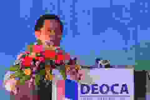 Bộ trưởng Đinh La Thăng bấm nút động thổ dự án hầm Cù Mông