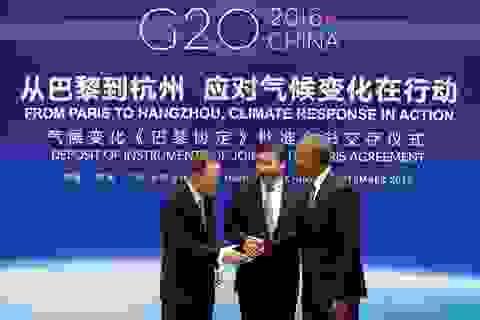 Trung Quốc, Mỹ phê chuẩn Hiệp định Paris về biến đổi khí hậu
