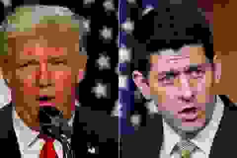 """Trump """"nổi đóa"""" vì không được lãnh đạo Hạ viện bảo vệ"""