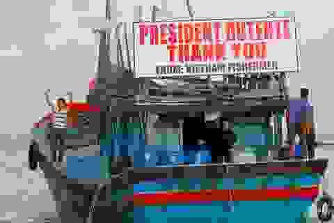 Philippines thả 17 ngư dân Việt Nam