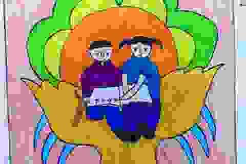 Quảng Bình: Trẻ em vẽ tranh về người khuyết tật