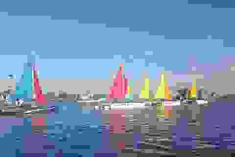 Quảng Bình: Trình diễn thuyền buồm trên dòng sông Nhật Lệ