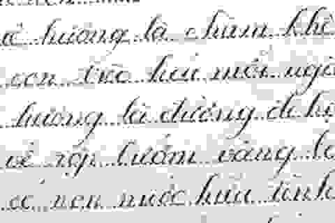 Sửng sốt cậu học trò viết chữ đẹp như in