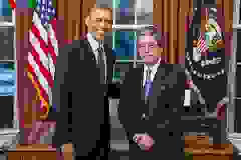 Đại sứ Phạm Quang Vinh trình Quốc thư lên Tổng thống Mỹ B.Obama