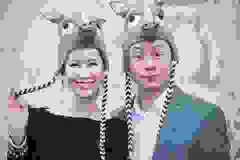 Dương Thùy Linh và MC Anh Tuấn nhí nhảnh hóa thân thành tê giác