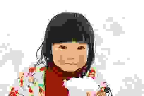 Quên đi mệt nhọc cuối năm với bộ ảnh tuyệt đẹp về cô bé má hồng