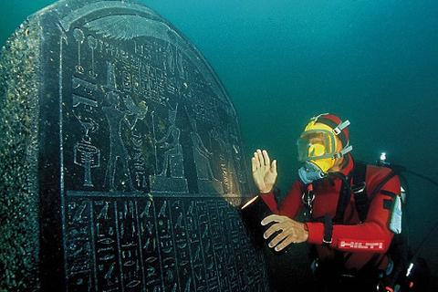 Phế tích của hai thành phố Ai Cập cổ xưa vùi sâu dưới dòng Nile