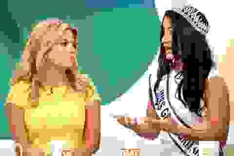 """Cuộc """"đụng độ"""" giữa Hoa hậu bị truất vương miện và tân Hoa hậu"""