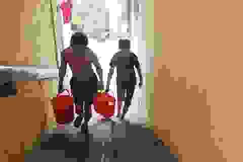 """Hà Nội: Tập thể Ban cơ yếu Chính phủ cũng """"lao đao"""" vì thiếu nước sạch"""