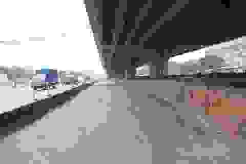 Hà Nội: Xén hàng trăm mét thảm cỏ xanh để giảm ùn tắc giao thông