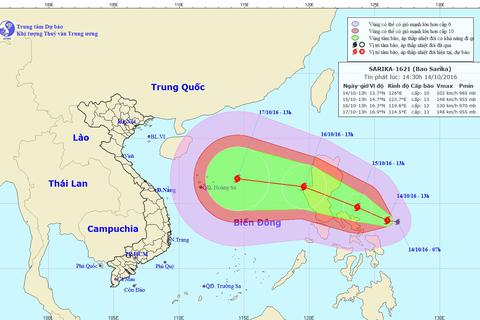 Xuất hiện cơn bão mạnh gần Biển Đông