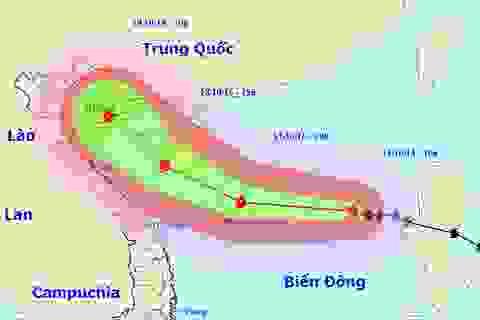 Bão số 7 tiếp tục áp sát quần đảo Hoàng Sa