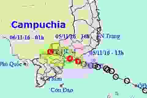 Áp thấp nhiệt đới vào đất liền, suy yếu thành vùng áp thấp