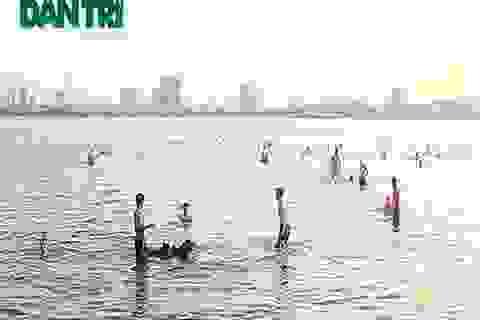 Người Hà Nội biến hồ Tây thành bãi tắm