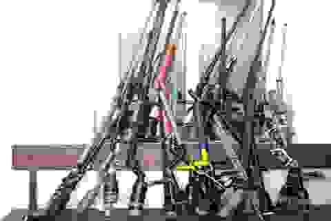 Thu giữ hàng trăm khẩu súng tự chế