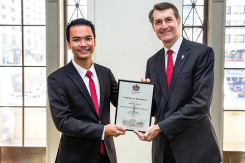 """Chàng trai Việt được chọn làm """"đại sứ du học"""" thành phố Brisbane"""