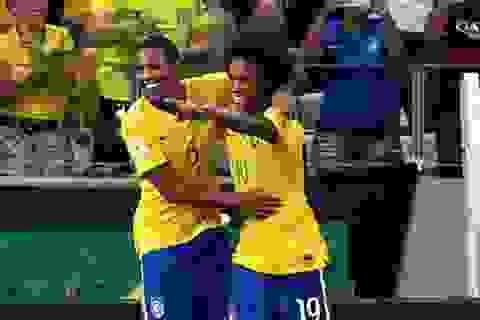 Willian tỏa sáng, Brazil vùi dập Venezuela