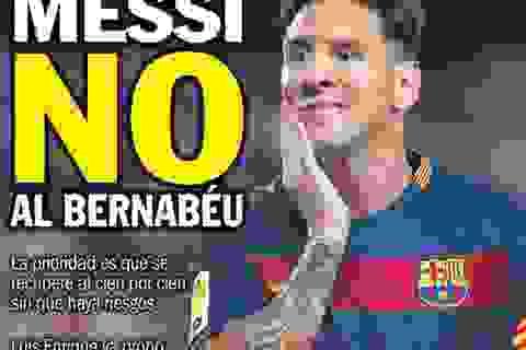 Messi lỡ hẹn với trận Siêu kinh điển