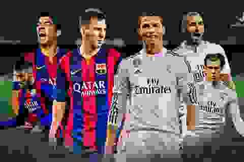Messi-Suarez-Neymar vượt trội so với Benzema-Bale-C.Ronaldo