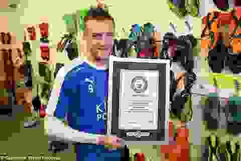 """Sách kỷ lục Guinness vinh danh """"hiện tượng"""" Jamie Vardy"""