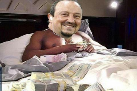 Cư dân mạng chế ảnh hài hước về sự ra đi của Benitez