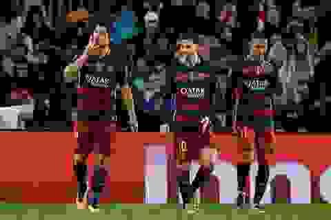 Số bàn thắng của Messi-Neymar-Suarez chỉ ít hơn 2 CLB ở châu Âu