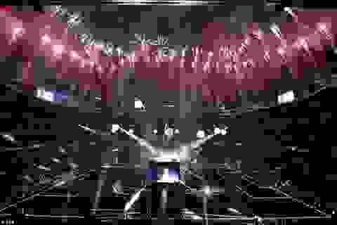 Ấn tượng trước bữa tiệc ánh sáng ăn mừng Undecima của Real Madrid