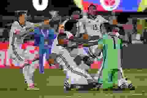 """Vượt qua Peru sau loạt """"đấu súng"""", Colombia lọt vào bán kết Copa America"""