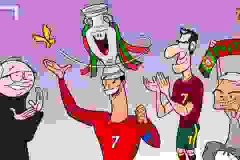 Những bức ảnh biếm họa đầy hài hước về Euro 2016