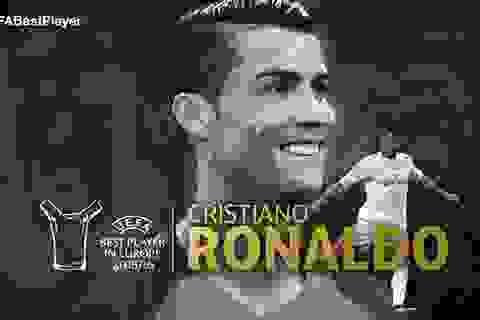 C.Ronaldo nhận giải Cầu thủ xuất sắc nhất châu Âu