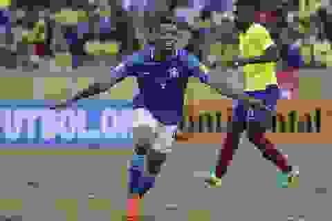 Tân binh Man City rực sáng, Brazil thắng tưng bừng Ecuador