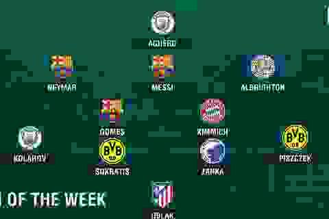 Đội hình tiêu biểu lượt đầu Champions League: Messi rực sáng