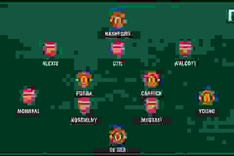 Đội hình kết hợp khủng giữa MU và Arsenal