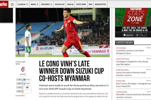 Báo nước ngoài nói gì sau chiến thắng của đội tuyển Việt Nam trước Myanmar?