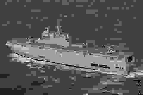 Nga hạ thủy tàu Mistral đầu tiên