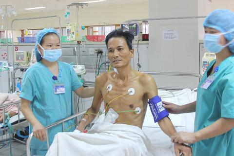 Cắt sỏi túi mật thành công cho bệnh nhân suy tim rất nặng